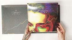"""Bill Kaulitz unpacking """"Kings Of Suburbia"""" Super Deluxe - all I want is the Devilish cassette tape tbh"""