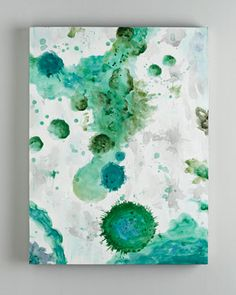 Spots of Emerald Abstract #abstractart #green #popculture