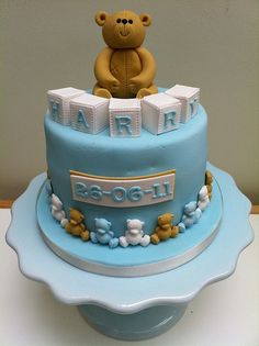 My Sons Christening cake by Cupcakes By Lisa, via Flickr