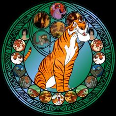 Shere Khan stained glass by jeorje90 on DeviantArt
