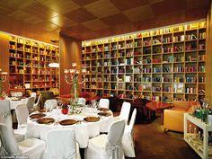 Floor to ceiling bookshelf