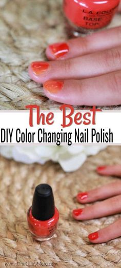 DIY Color Changing Nail Polish is so simple to make and a blast to use. Learn how to make color changing nail polish that is so cool!