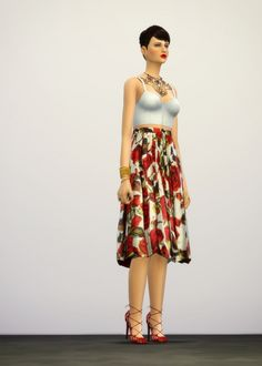 The Essential M skirt at Rusty Nail • Sims 4 Updates
