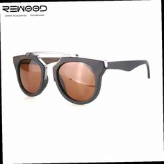 45.00$  Buy now - http://alimjj.worldwells.pw/go.php?t=32775280768 - Rewood Women Eyewear High Quality Handmade Wooden Sunglasses With Stainless Steel Spring Loaded Hinges And Polarized Lens UV400 45.00$
