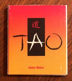 TAO Asian Bistro #matchbox - To order your business' own branded #advertising #matchbooks or #matchboxes, go to www.getmatches.com or call 800-605-7331 today!
