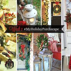It's week 2 of #MyHolidayScapes  yay! This week we're focusing on #MyHolidayPorchscape Want to join the party? Post a pic of your porch stoop door etc and use the hashtag #MyHolidayPorchscape  can wait to see the eye candy you guys post. Last week's #myholidaymantelscape posts were gorgeous! Man I  the holidays! #christmasdecor #home #christmasdecor #christmas #holidaydecor #homeinspo #CopyCatChic