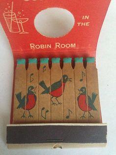 Vtg Feature Matchbook Round Robin Restaurant Cocktails Sherman Oaks CA | eBay