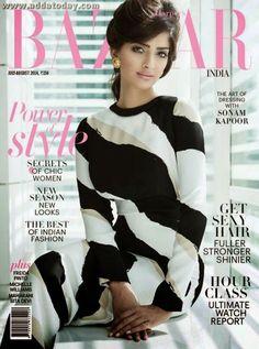 Sonaam Kapoor Covers Harpers Bazaar India, August 2014 http://corinnabsworld.blogspot.com/2014/07/4-international-harpers-bazaar-covers.html #SonaamKapoor #HarpersBazaarIndia