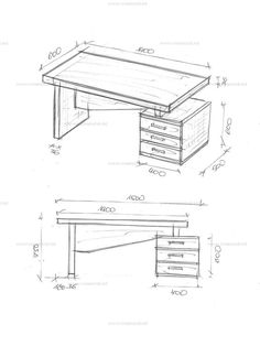 The simplest way to incresase your comprehension office furniture Small Office Design, Office Table Design, Office Furniture Design, Home Office Design, Drawing Furniture, Bed Furniture, Study Table Designs, Planer, Computer Desks