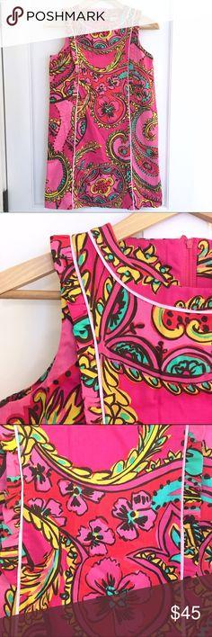Lilly Pulitzer 'Follow the Pink Road' Shift Dress EEEUC Lilly Pulitzer 'Follow the Pink Road' Shift Dress. Vibrant pink pattern. *Girls* size 14. Lilly Pulitzer Dresses