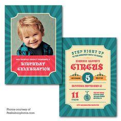 Carnival Circus Birthday Party Invitation by PrintFrameHang, $7.00