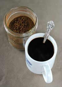 coffee-with-ground-chicory How to make chicory coffee, from growing the roots to drying, roasting, grinding and drinking chicory root coffee, New Orleans style.