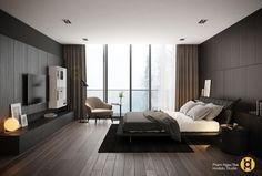 Trendy Home Bedroom Master Loft Ideas Modern Bedroom Design, Modern House Design, Home Interior Design, Interior Architecture, Home Bedroom, Master Bedroom, Bedroom Decor, Bedroom Ideas, Suites