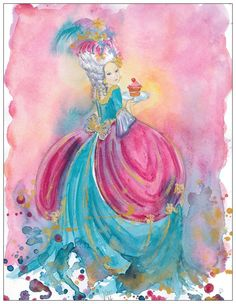 Marie Antoinette postcard by silviadotti on Etsy