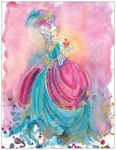 Marie Antoinette postcard by silviadotti on Etsy
