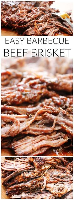 Easy Barbecue Brisket {Slow Cooker Recipe} Easy Barbecue Beef Brisket is a mouthwatering brisket is rubbed with spices & liquid smoke, then slow-cooked until tender & juicy, then served and devoured. Meat Recipes, Slow Cooker Recipes, Crockpot Recipes, Cooking Recipes, Recipies, Sirloin Recipes, Syrian Recipes, Dinner Crockpot, Kabob Recipes