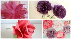 4 tutoriales para hacer flores de papel
