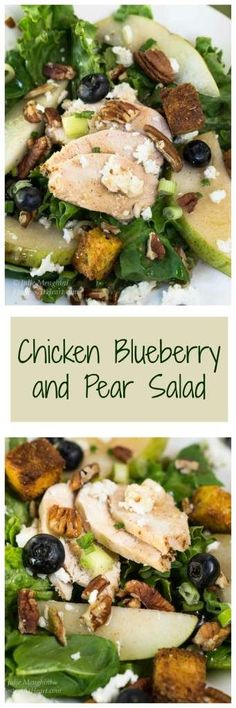 Chicken Pear Salad with Goat Cheese sounds like a mouthful to say, but I'll guarantee you'll be eating mouthfuls of this salad once you've tried the Pear Dressing   HostessAtHeart.com