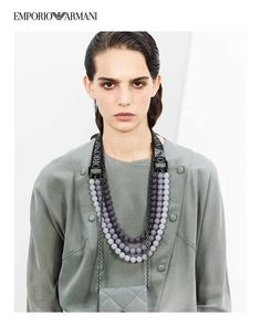 Androgynous Styling at Emporio Armani RTW SS 2021 collection Emporio Armani, Androgynous Look, Shades Of White, Sheer Fabrics, Summer Wardrobe, Summer Collection, Ss, Ready To Wear, Chain