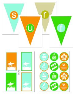 surf party printables