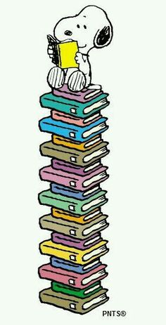 Snoppy is a books lover
