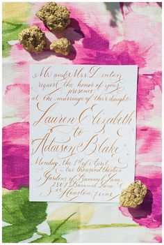 Calligraphy Wedding Invitation Design by EverlyCalligraphy on Etsy, $300.00