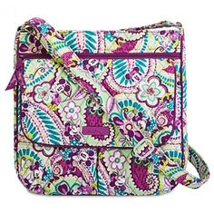 Disney Vera Bradley Plums Up Mickey Mail Bag - this pattern is perfection!