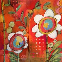 Jenni Horne: How About Some Orange? #acrylic #painting #flowers