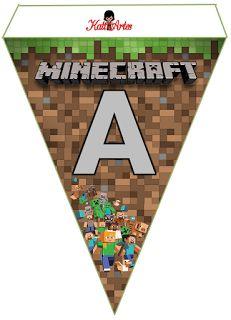 EUGENIA - KATIA ARTES - BLOG DE LETRAS PERSONALIZADAS E ALGUMAS COISINHAS: Bandeirola Minecraft