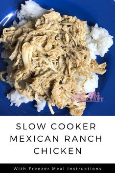 Slow Cooker Mexican Ranch Chicken – Saving You Dinero – easy kids friendly dinners Slow Cooker Freezer Meals, Slow Cooker Chicken, Slow Cooker Recipes, Crockpot Recipes, Crockpot Dishes, Easy Kid Friendly Dinners, Freezer Chicken, Shredded Chicken Recipes, Healthy Diet Recipes
