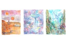 "Star Wars, Complete Original Trilogy 8"" x 10"" Colorful Watercolor Art Print 3-Pack by LemonWatercolor on Etsy https://www.etsy.com/listing/218295051/star-wars-complete-original-trilogy-8-x"