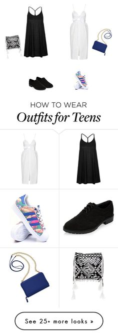 """Untitled #2373"" by yesmine-bengharbia on Polyvore featuring Topshop, New Look, adidas and TravelSmith"