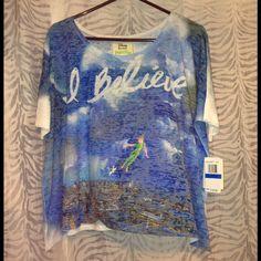 "Macys Tops - ""Believe"" Disney Peter Pan shirt"