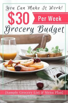 Think it's impossible to live on a tiny grocery budget? This post will inspire you otherwise and give you the tips & tricks you need to make it happen!