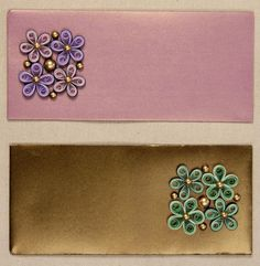 Delicately designed paper quilling gift envelope exclusively for the upcoming festive season.