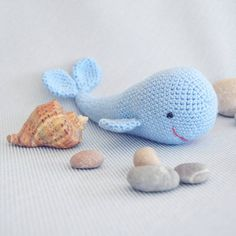 A little whale for a perfect little baby. It's a pile of cute! #amigurumi, #amigurumitoys, #amigurumiwhale, #handmadetoys, #crochettoy