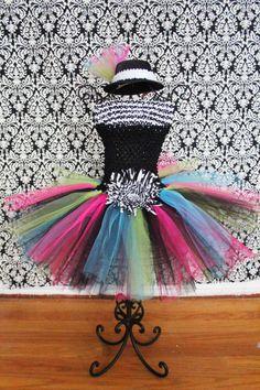 Tule tutu dress. I like these colors together!