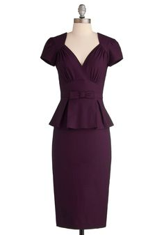 Irresistible Enchantress Dress in Eggplant, #ModCloth