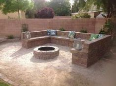 above ground firepit | In Ground Fire Pit: In Ground Fire Pit With Stone Wall – Bloombety by leila