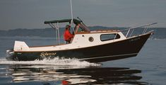 This custom wood boat, a dory, is a fine small cruising boat Plywood Boat Plans, Wooden Boat Plans, Trawler Boats, Sailing Dinghy, Cruise Boat, Wooden Boat Building, Build Your Own Boat, Boat Kits, Boat Interior