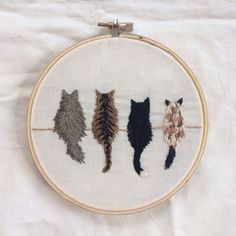 cat, art, and embroidery afbeelding