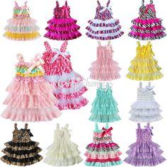 Toddler Lace Rustic Baby Girls Kid Ruffle Wedding Tutu Fancy Dress Clothes 6M-4T #Fashion #Babygirlsruffletiereddress #DressyHolidayPartyBirthdayWeddingPhotoshoots