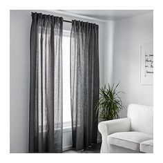 IKEA AINA curtains, 1 pair The curtains can be used on a curtain rod or a curtain track. Curtains With Blinds, Bedroom Furnishings, Dark Curtains, Country Style Curtains, Grey Curtains, Ikea, Curtains, Curtain Decor, Dark Grey Curtains
