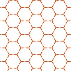 Pin it to the back of the closet wall. Honey Hive in tangerine  fabric by lana_kole on Spoonflower - custom fabric