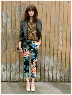 leather + animal+ floral