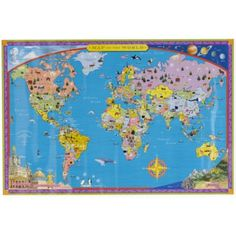22 best rers map images on pinterest child room baby rooms and world wall map gumiabroncs Image collections