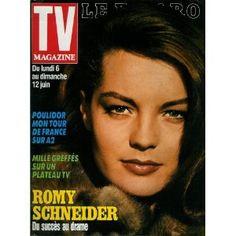 Romy Schneider : du succès au drame, dans TV Magazine Le Figaro n°13613 du 04/06/1988 [couverture et article mis en vente par Presse-Mémoire]