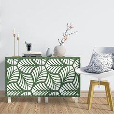 Vinilo Lámina estampado ornamental de hojas perfecto para colocar en el mueble del salón y darle un toque diferente. Leaves, Drawings