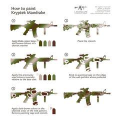 How to paint Kryptek Mandrake