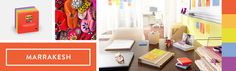 The bright and vibrant colours of the Marrakesh collection within an office. #Officebeautiful #Inspiring #Bright
